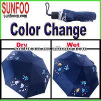 Colour change magic watermark umbrella