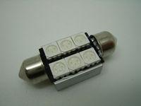 39mm 6 SMD 5050 festoon canbus LED NO OBC ERROR Car Auto Interior Light Bulbs LED Festoon Light Lamps license plate light