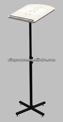 adjustable height and angle metal stand wood top podium