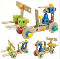 carro e avião conjunto de brinquedos de madeira