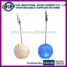 Golf ball shape name card clip