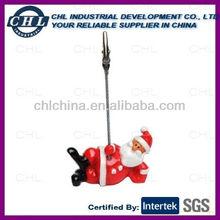 Santa claus shape name card clip