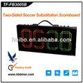 futebol placa de substituição para o jogo de futebol