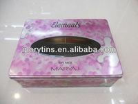 perfume tin box with window