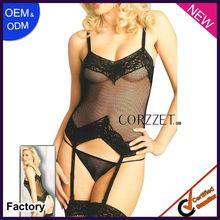Black adult sexy garter plus size lingerie