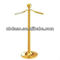 golden yellow painting stainless steel queue stand,queue management system