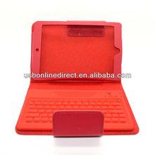 colorful Wireless Bluetooth Keyboard Leather Case For Mini ipad