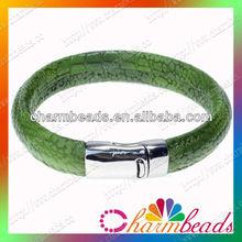 Snake leather bracelets bangles magnetic clasp