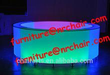 Shanghai comercial furnuture venta al por mayor discoteca comercial de acrílico redonda LED portátil