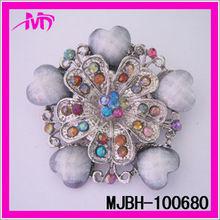 custom made bridal colorful rhinestone brooches jewelry