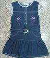 la acción de color azul las niñas una pieza de vestir por lo que el patrón