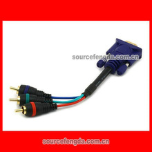 high quality VGA to AV cable component video cable/converter Gold plated