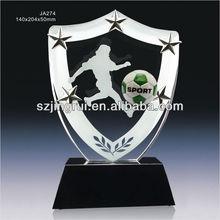 crystal football trophy
