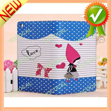 for iPad Mini PU Leather Stand Case Lovely Cartoon Girl Style