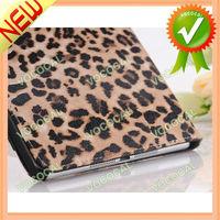 Leopard PU Leather Stand Flip Case for iPad Mini