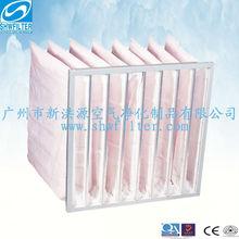 F8 medium efficiency bag air filter for clean room