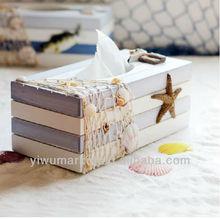yiwu market creative and popular Mediterranean Style decoration wooden tissue box design craft