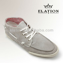 boat style casual shoes grey