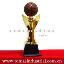 Hot sale design sport souvenir resin basketball trophy