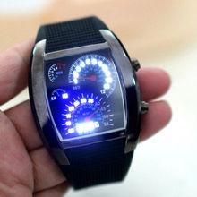 Modern Design Watches Men Automatic 3 ATM and 4 Brightness Level Aviation Dashboard design Digital TVG LED Watch