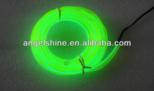 lime-green el flashing welt wire cable neon light LED el wire for party