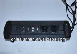 Advanced multiple power socket / schuko / british / HDMI / RCA / USB etc. for conference table