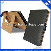 Custom note book style for ipad mini leather bag case
