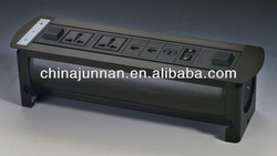 Desktop power strip multiple socket / schuko / HDMI / RCA / USB etc. for conference table