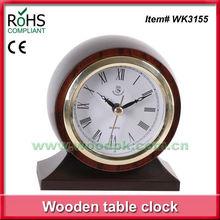 11.5x13cm Home made decoration quartz timber small table clock