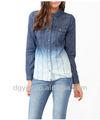 حار بيع! البلوزات أزياء النساء الجينز اسلوب 2012