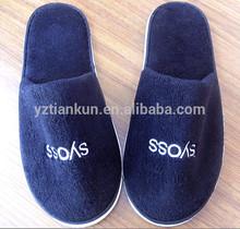 black colour coral fleece wholesale slipper