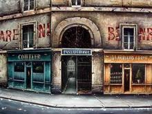 Canvas England Building Acrylic Painting