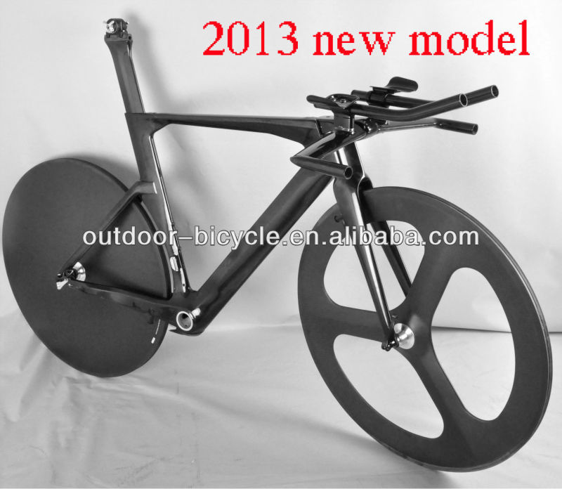 2013 Full Carbon Triathlon/TimeTrial/TT Bike Frame/fork Racing Road Bike Bicycle Disc brake wheelset