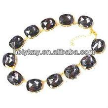 2013 fashion jewelry trendy decorative outfit elegant fake diamond necklace