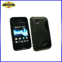 Hot Sales S Case for Sony Xperia Tipo ST21i, Gel TPU Back Cover--Laudtec