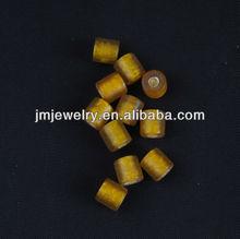 yellow glass beads on retail