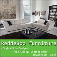 The ikea style furniture leather modern sofa 8818