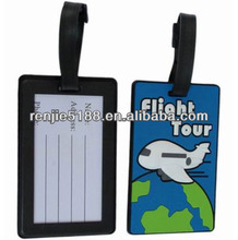 3D soft pvc carton luggage tag product with customized design