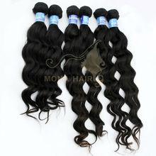 Grade AAAAA Brazilian remy hair natural color nice loose wave hair