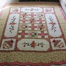 Popular Cotton Applique Flower Expensive Carpet
