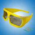 moda armação de plástico passiva circular polarizada óculos 3d para pc do jogo