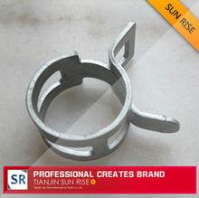Gavanized steel/stainless steel spring clip for fastener