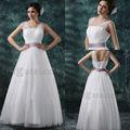Dolce elegante&increspato principessa lunghezza piano viola con fusciacca 2013 semplice abito da sposa jw0453