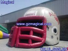 inflatable blast tunnel football helmet