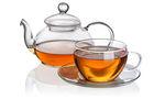 exclusive clear borosilicate glass tea set