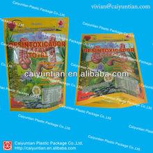 custom printing ziplock bag for herbal tea/erect ziplock bag with printing for tea