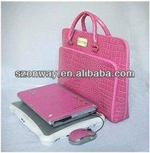 Crocodile leather laptop brief case