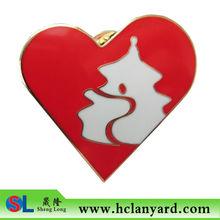 heart shape lapel pin