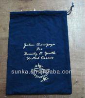 Navy Cotton Flannel Shoe Dust Bags (SJ-D-085)