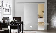 Elegant brief aluminum sliding door system